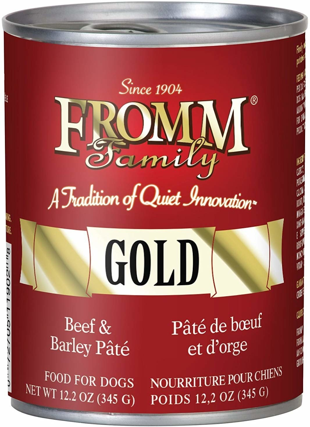 Fromm Family Foods LLC Fromm Gold Bf & Brly Pate 12.5oz Case