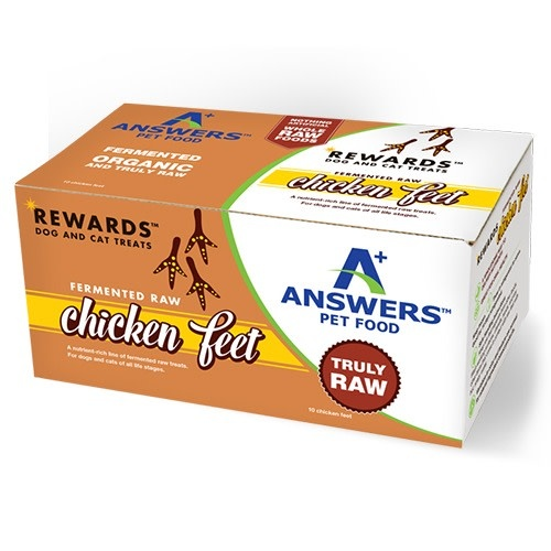 Answers Pet Food Answers Fermented Chicken Feet 10 ct
