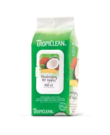 Tropiclean Hypo Pet Wipes 100 ct