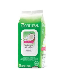 Tropiclean Pet Wipes 100ct Deep Cleaning