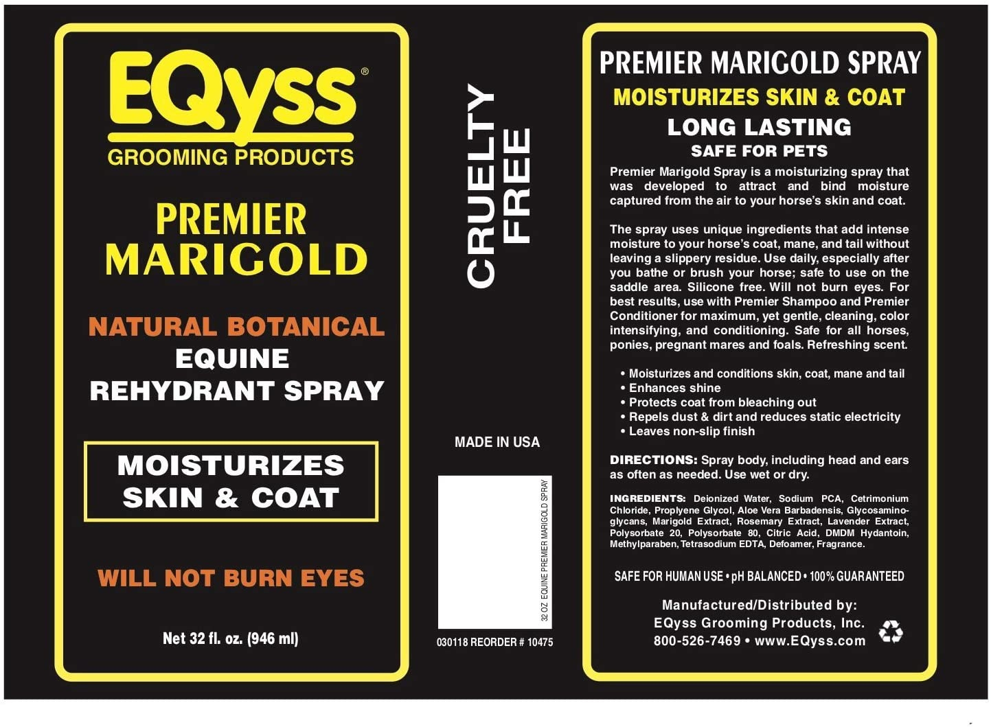 EQyss Grooming EQyss Marigold Spray 32 oz