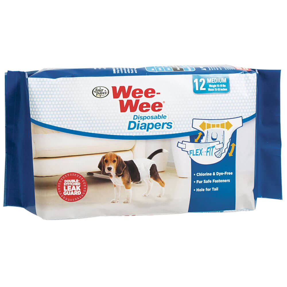 Four Paws Wee-Wee Disposable Diaper MD 12