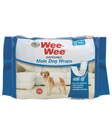 Wee Wee Male Wraps MD/LG 12 ct