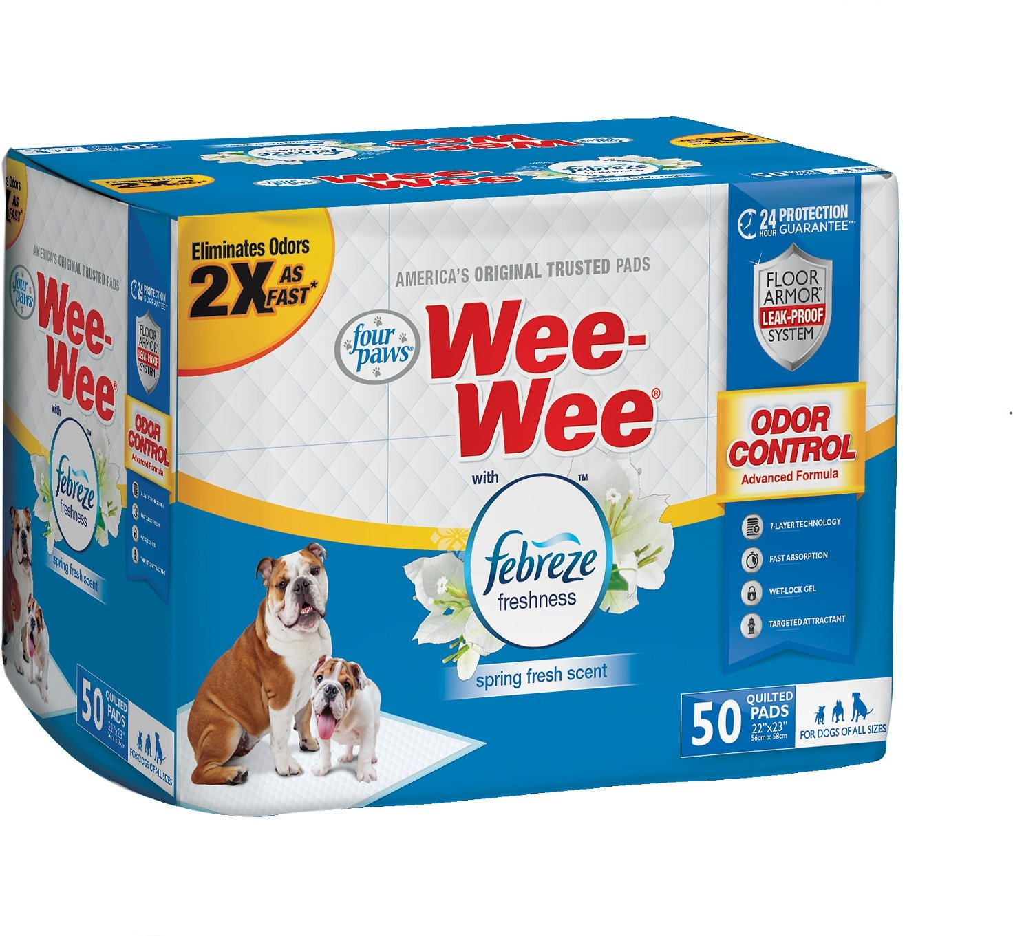 Four Paws Products LTD Four Paws Wee-Wee Pads FB 50 ct