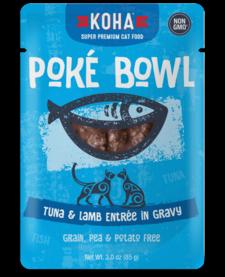Koha Cat Pouch Poke Bowl Tuna & Lamb 3 oz 24/Case