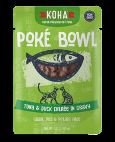 Koha Cat Pouch Poke Bowl Tuna & Duck 3 oz 24/Case