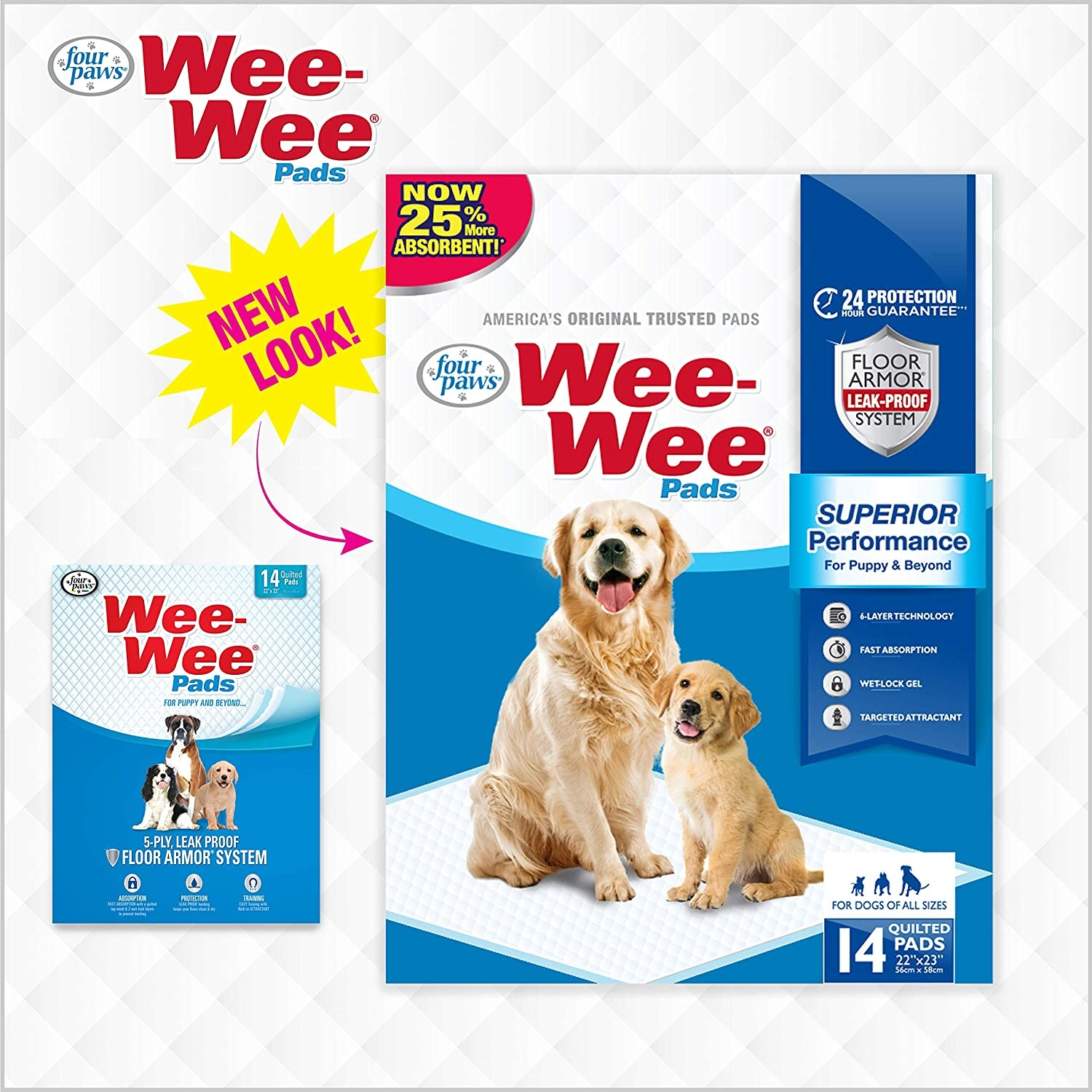 Four Paws Products LTD Four Paws Wee Wee Pads 14 ct