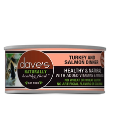 Dave's Cat Turkey & Salmon 5.5 oz