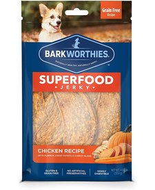 Barkworthie's Chicken Pumpkin Jerky 4 oz