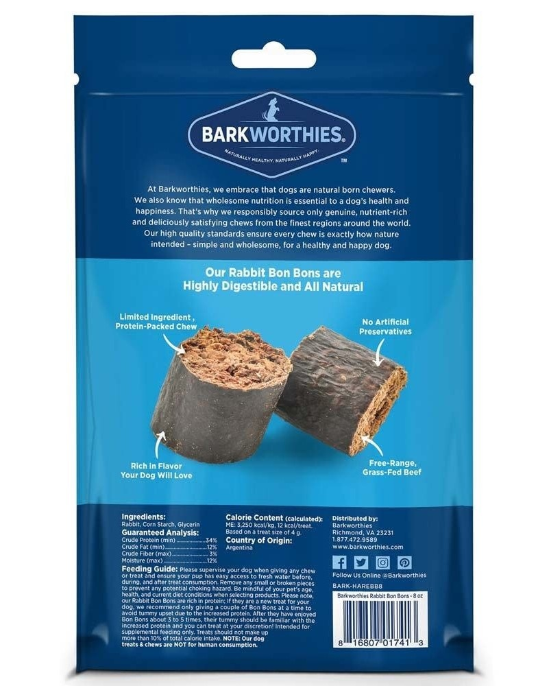 Barkworthie's Barkworthie's Rabbit Bon Bons 8oz