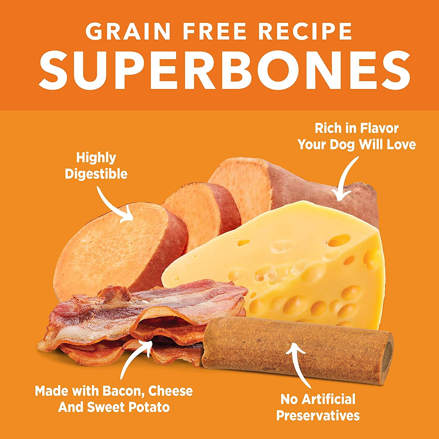 Barkworthie's BW Superbones GF Bacon/Cheese 3 ct