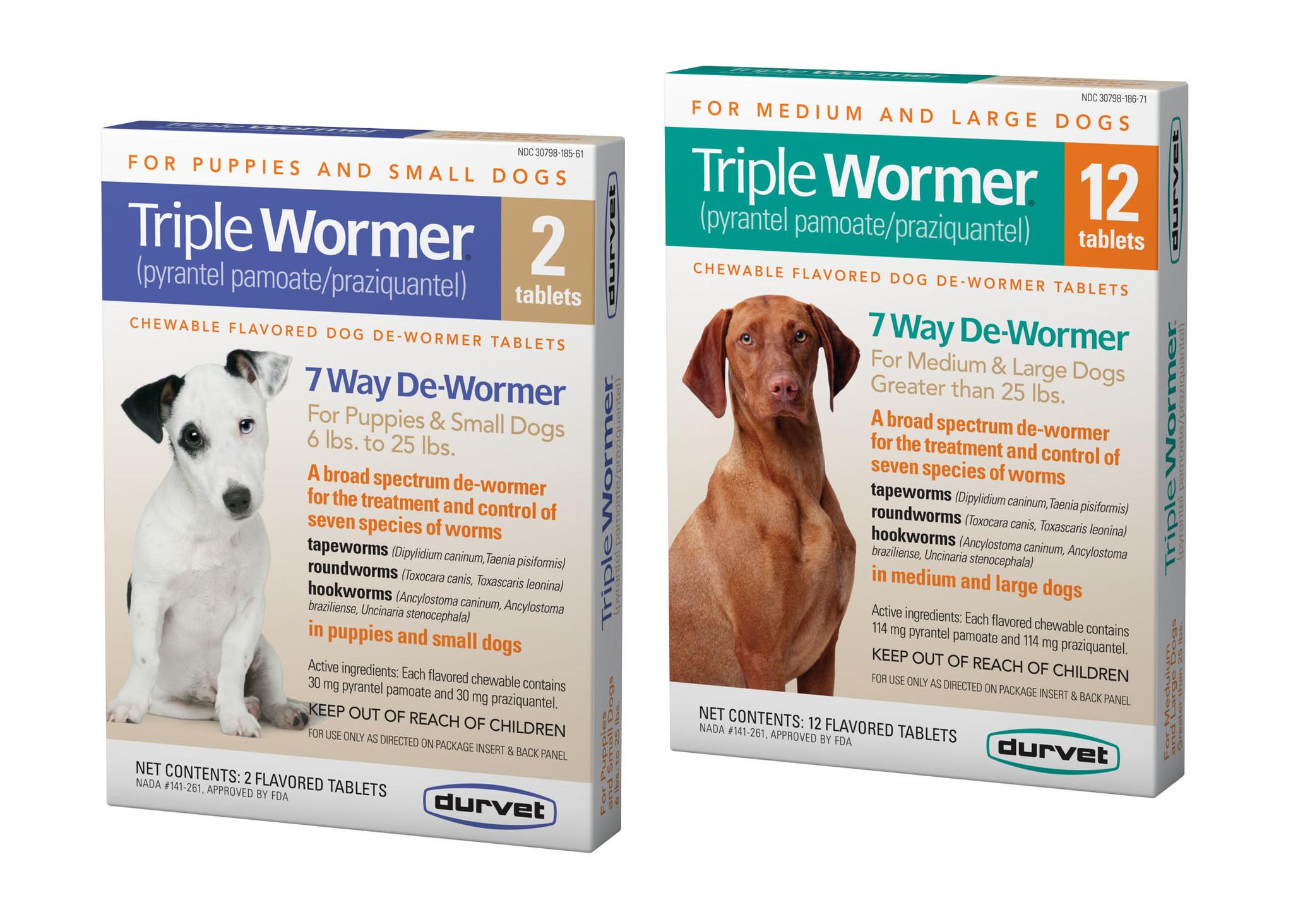 Durvet Triple Wormer Lg Dog 2 pk