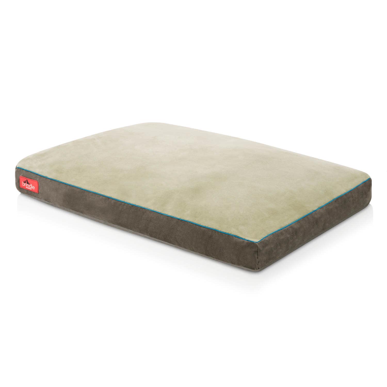 """Brindle Shred Foam Bed 17"""" Khaki"""