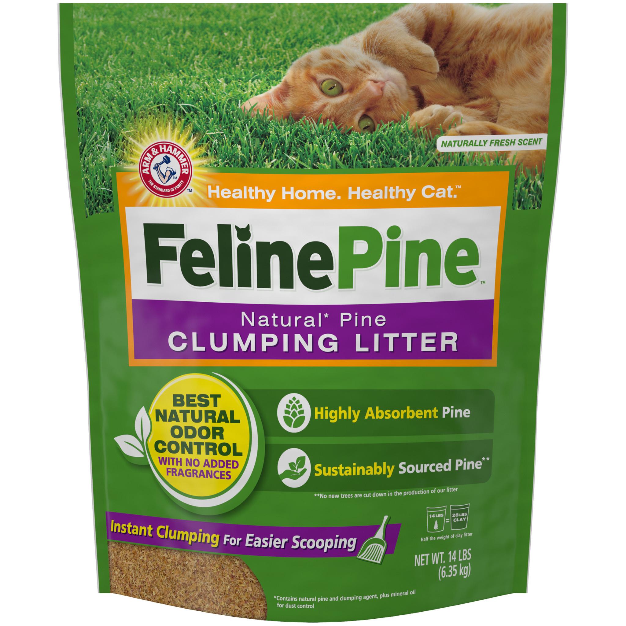 A&H Feline Pine Clumping Litter 14 lb