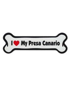 I Love My Presa Canario Bone Magnet