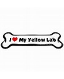 I Love My Yellow Lab Bone Magnet