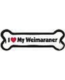 I Love My Weimaraner Bone Magnet
