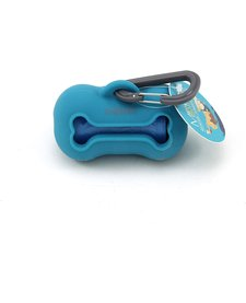 Messy Mutts Waste Bag Holder Blue