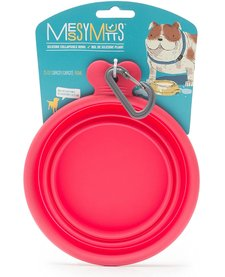 Messy Mutts Collapsible Bowl Red MD