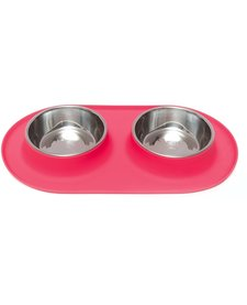 Messy Mutts MD Double Bowl Red