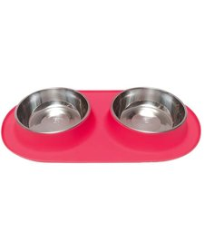 Messy Mutts LG Double Bowl Red