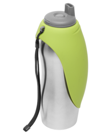 Messy Mutts Water Bottle Bowl Green