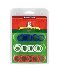 Happy Hen Spiral Leg Bands Size 11