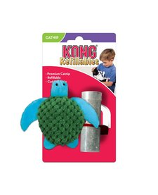 Kong Cat Toy Refillable Catnip Toy Turtle