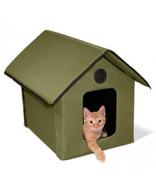 K&H Olive Heated Kitty House