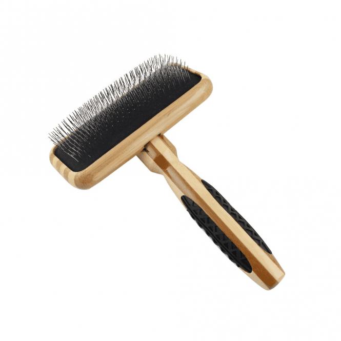 Bass Brushes Bass Slicker Style Brush Bamboo Handle Size Med