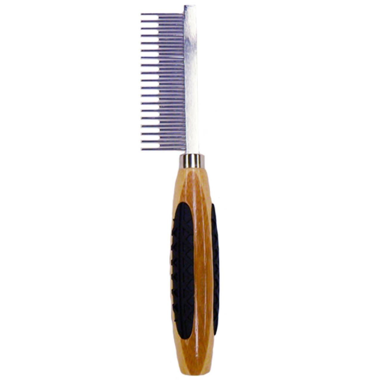 Bass Brushes Bass Alternating Short/ Long Tooth Metal Pet Comb