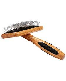 Bass Slicker Brush Bamboo Handle Size Large