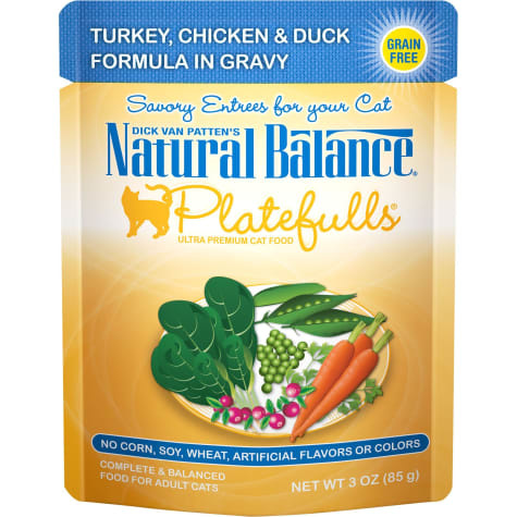 Natural Balance Nat Bal Platefulls Turkey, Chicken & Duck 3 oz