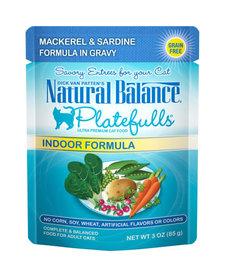 Natural Balance Platefulls Indoor Mackerel & Sardine 3 oz