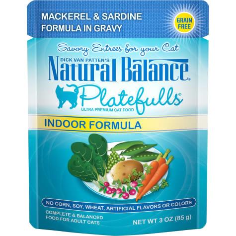 Natural Balance Natural Balance Platefulls Indoor Mackerel & Sardine 3 oz