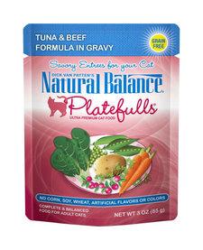 Nat Bal Platefulls Tuna & Beef 3 oz