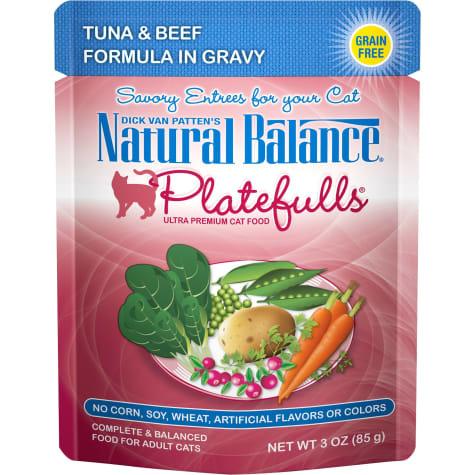 Natural Balance Nat Bal Platefulls Tuna & Beef 3 oz