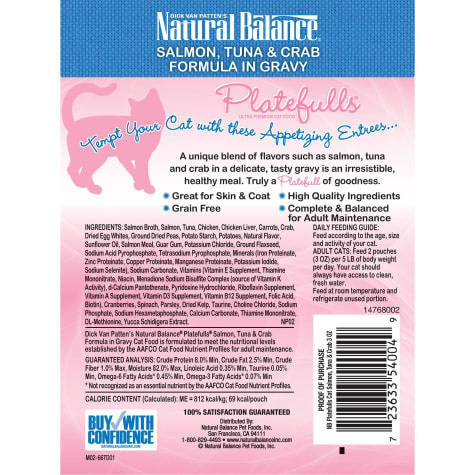 Natural Balance Nat Bal Platefulls Salmon, Tuna & Crab 3 oz