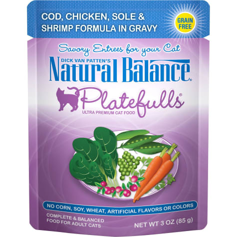 Natural Balance Nat Bal Platefulls Cod, Chicken, Sole & Shrimp 3 oz