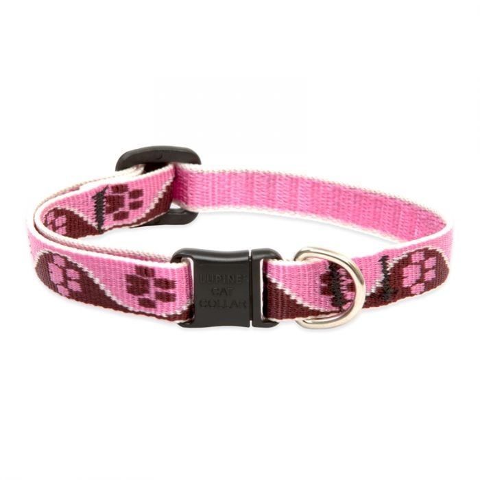 Lupine 1/2in Lupine Tickled Pink Cat Collar 8-12in