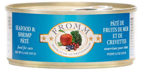 Fromm Family Foods LLC Fromm 4Star Cat Seafood & Shrimp 5.5 oz