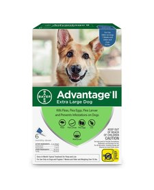 Advantage II Extra Large Dog, 6 Pack