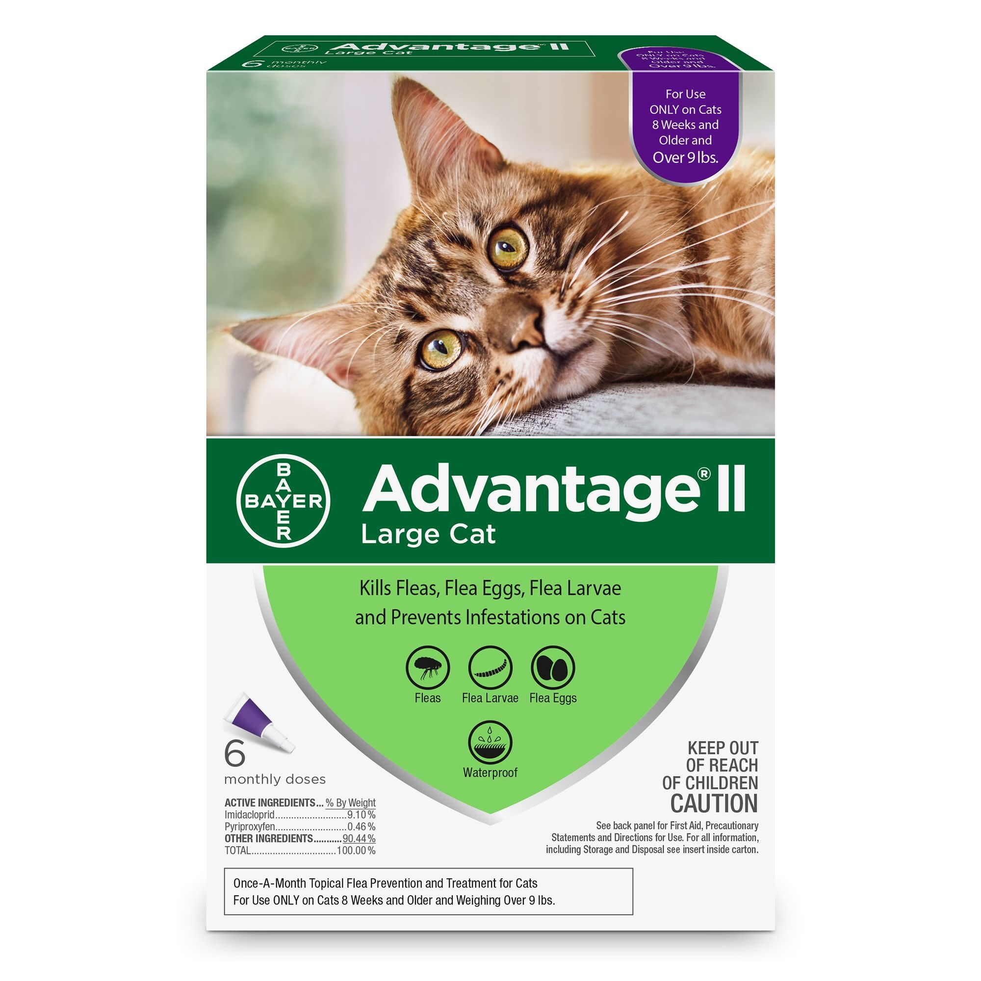 Advantage (Bayer) Advantage II Large Cat, 6 Pack