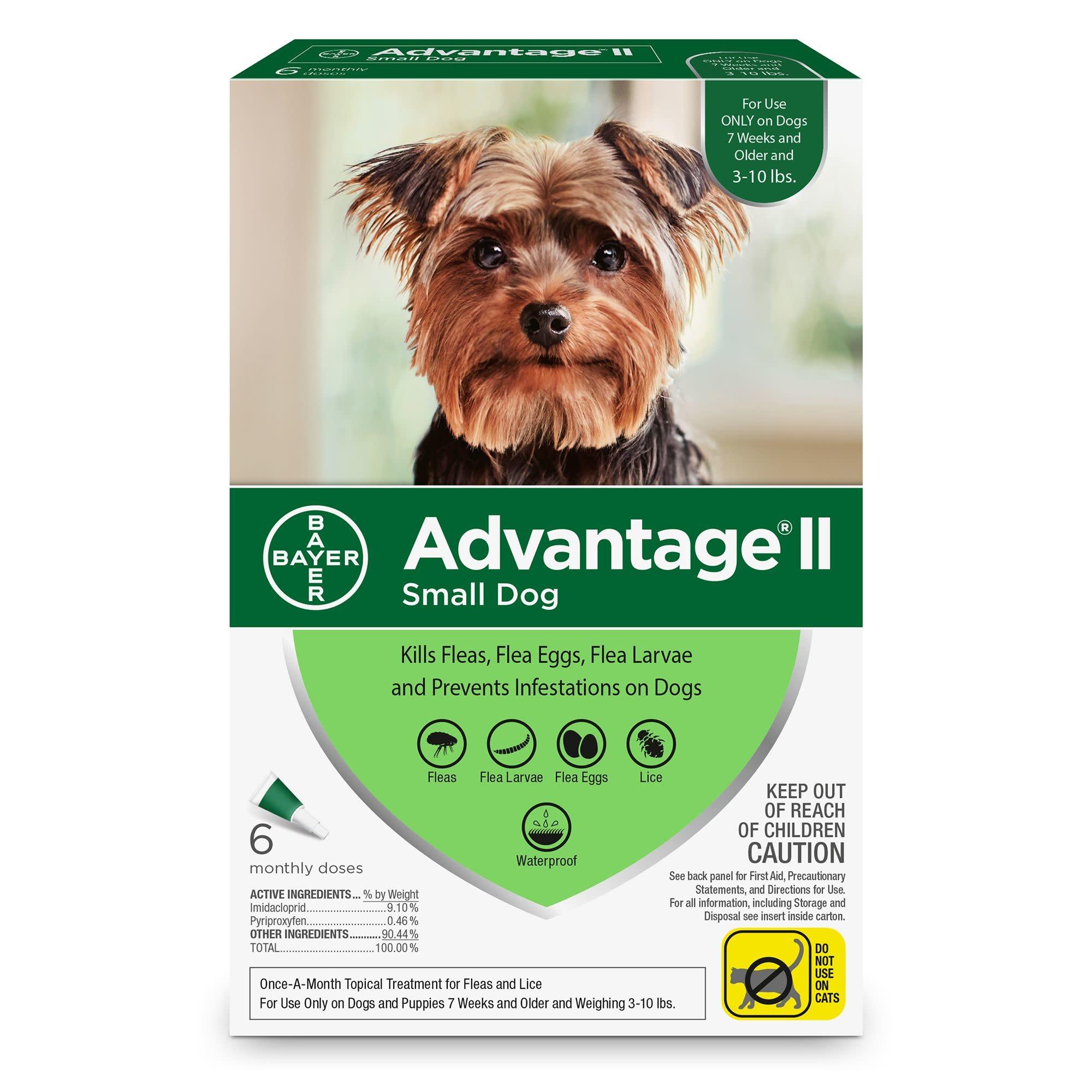 Advantage (Bayer) Advantage II Small Dog, 6 Pack