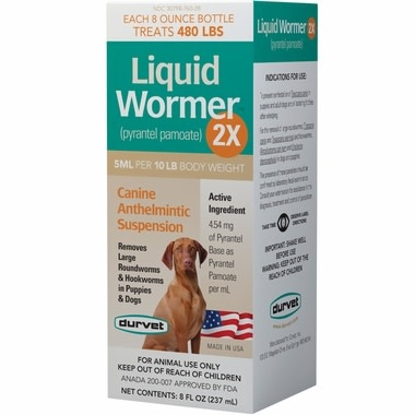 Durvet Liquid Dewormer Dog 8 oz