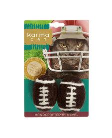 Karma Cat - Felt Football 2 pk