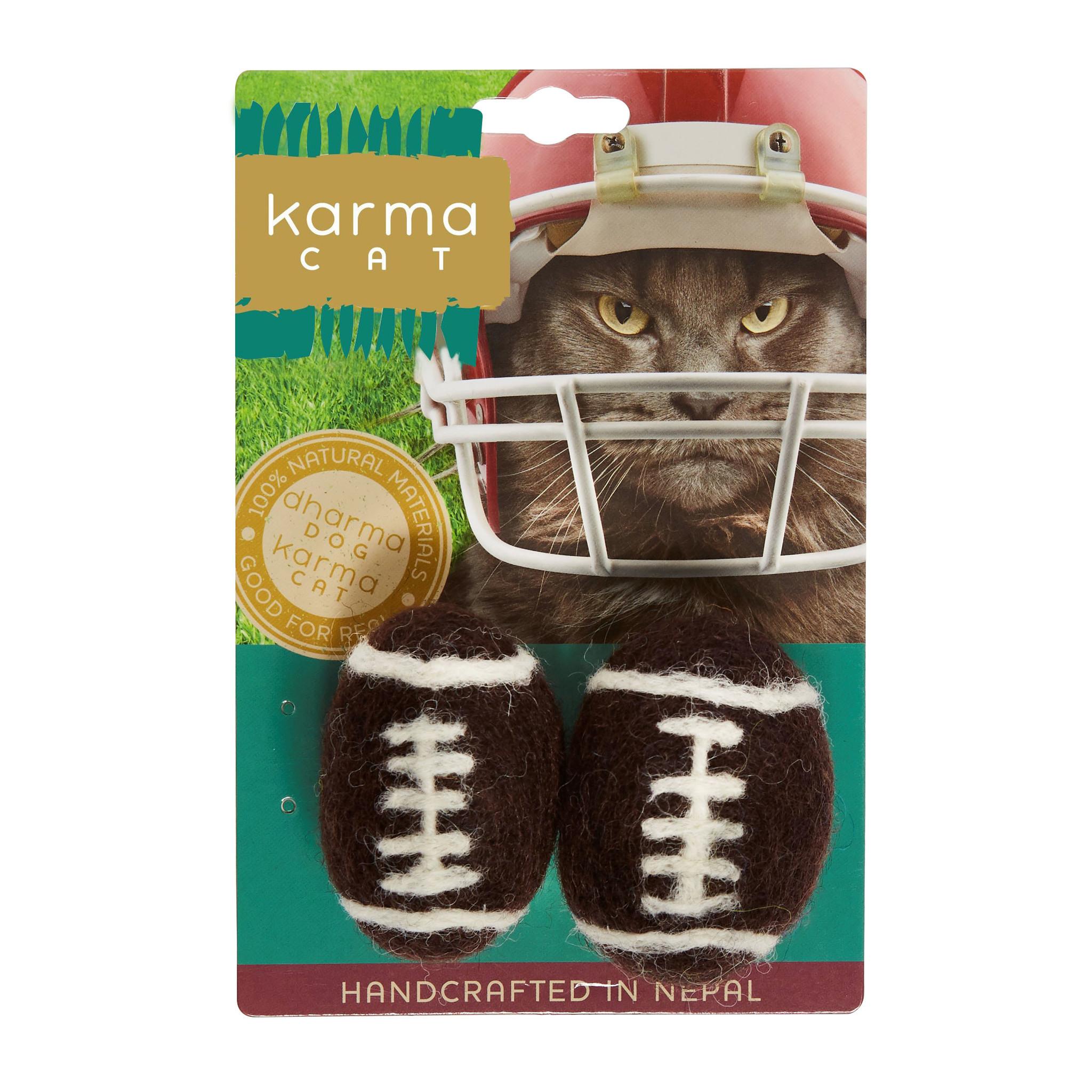 Karma Cat Karma Cat - Felt Football 2 pk