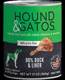 Hound & Gatos Dog Duck & Liver 13oz