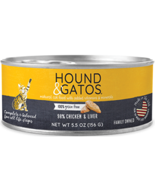 Hound & Gatos Cat Ckn & Liver 5.5 oz