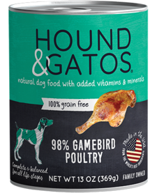 Hound & Gatos Dog Gamebird 13oz